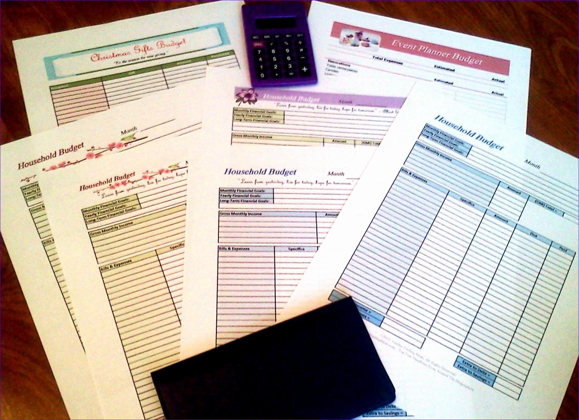 6 Monthly Bills Excel Template
