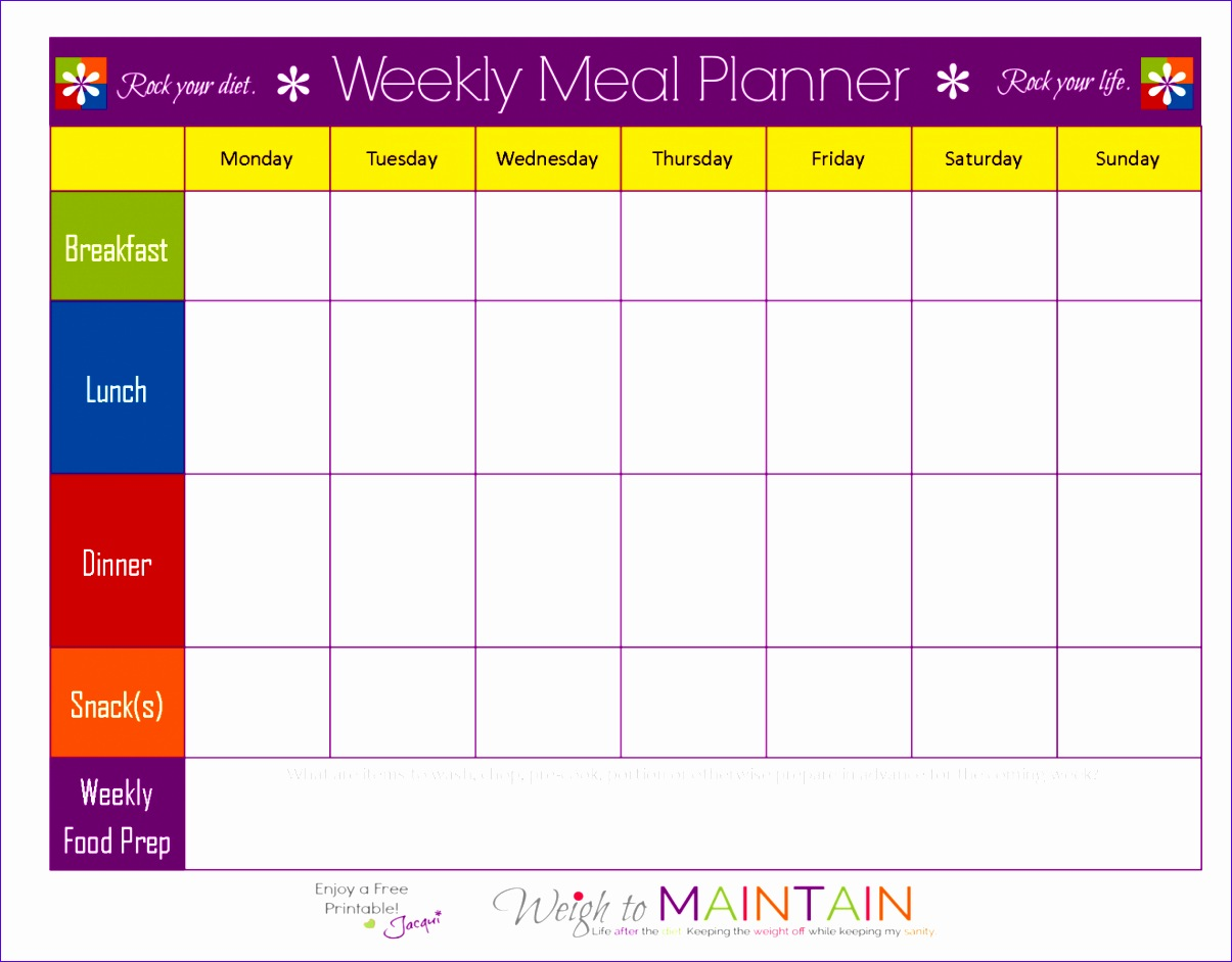 8 Monthly Budget Excel Template Free