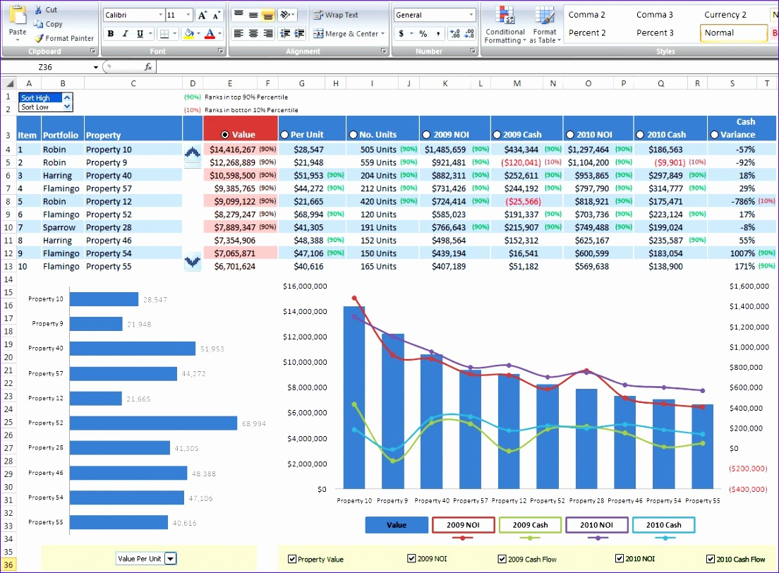 5 Sample Excel Spreadsheet Templates