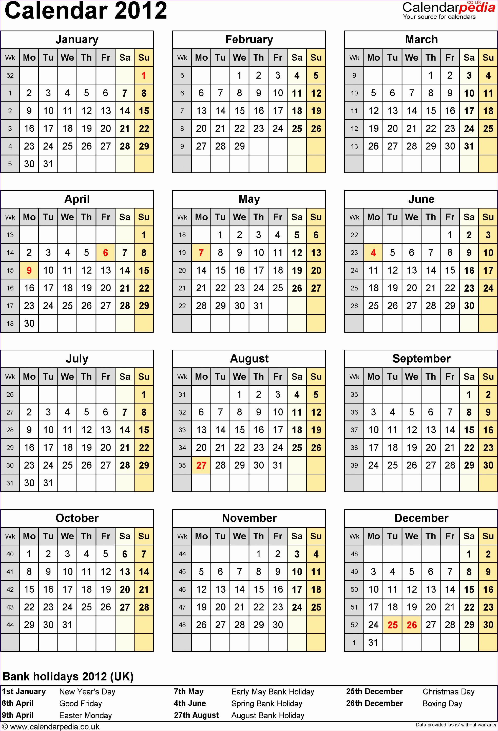 6 Staff Rota Excel Template