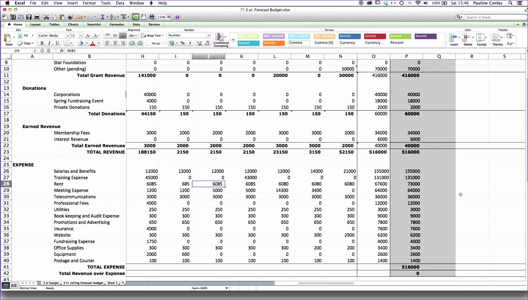 12 T Accounts Excel Template