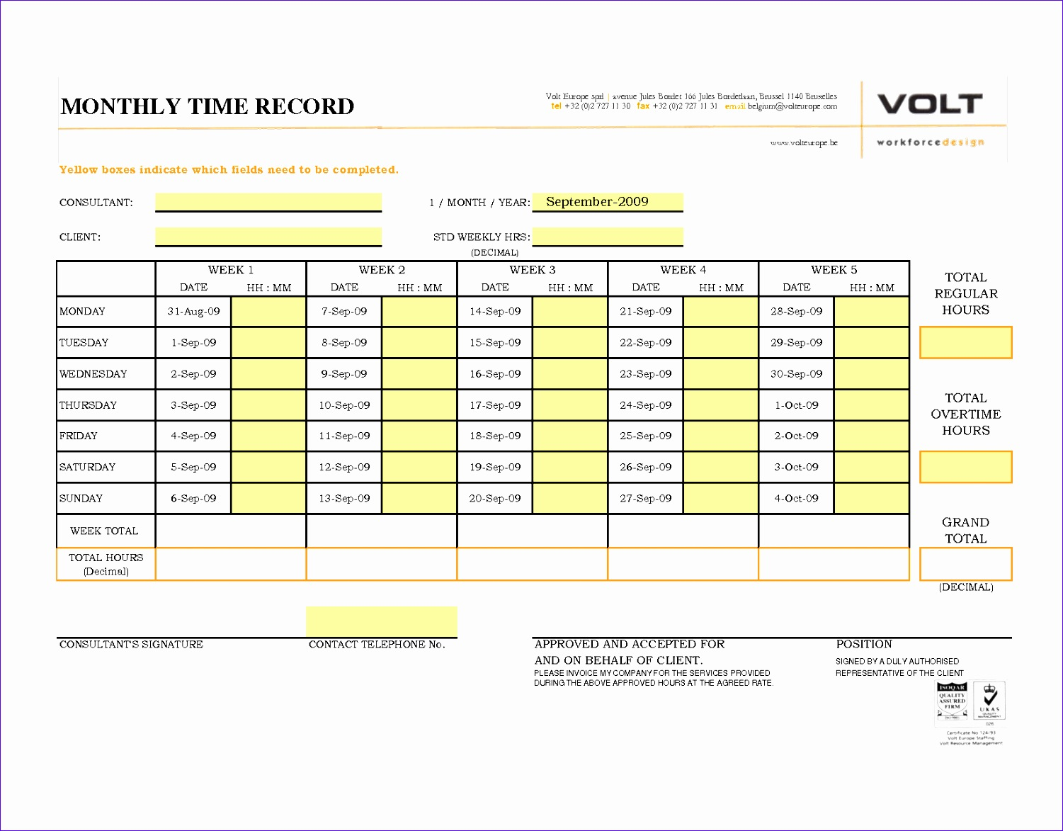 11 Timesheet Template For Excel