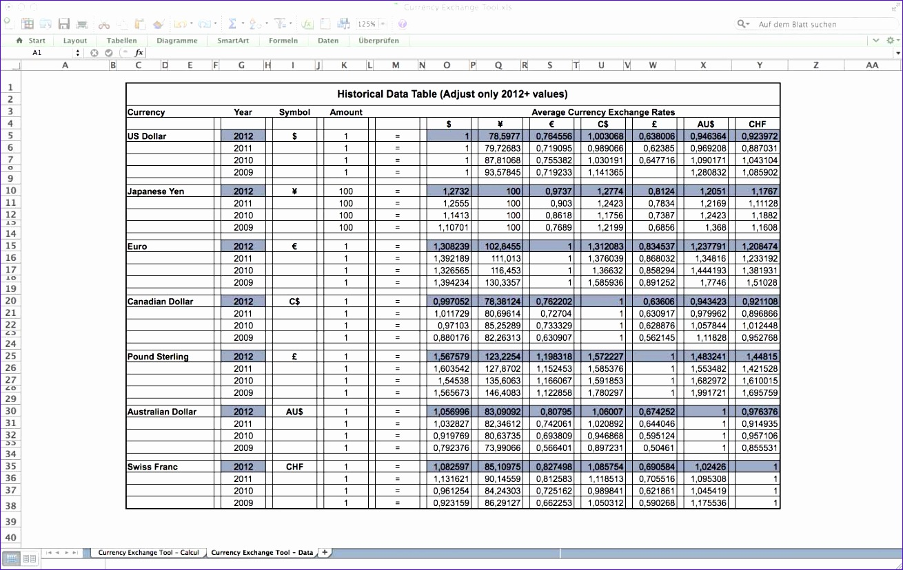 12 Using Excel Templates
