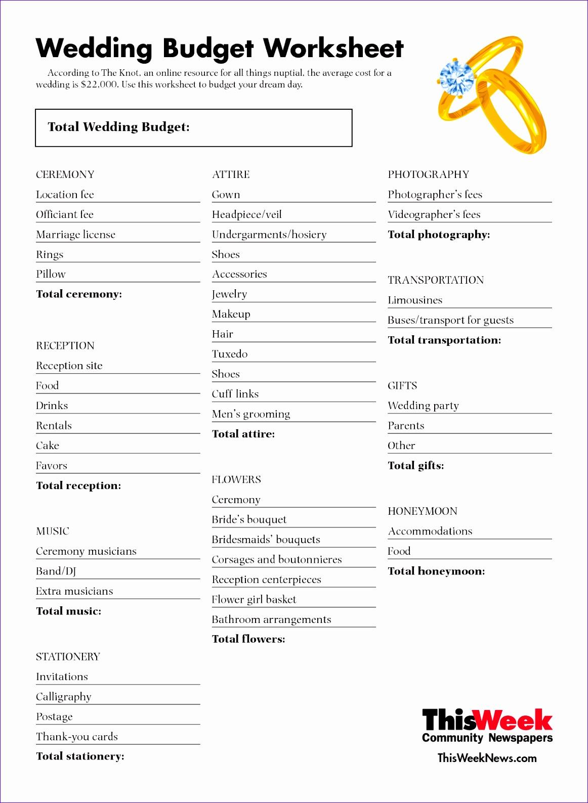 8 Wedding Planner Excel Template