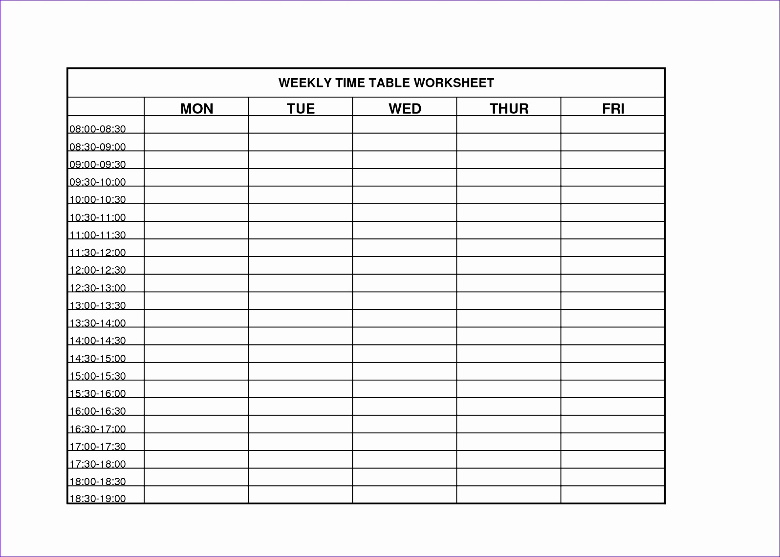 12 Weekly Timesheet Template Excel