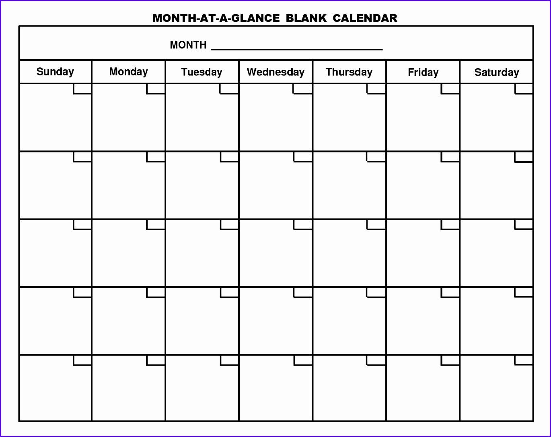 10 Excel Blank Calendar Template