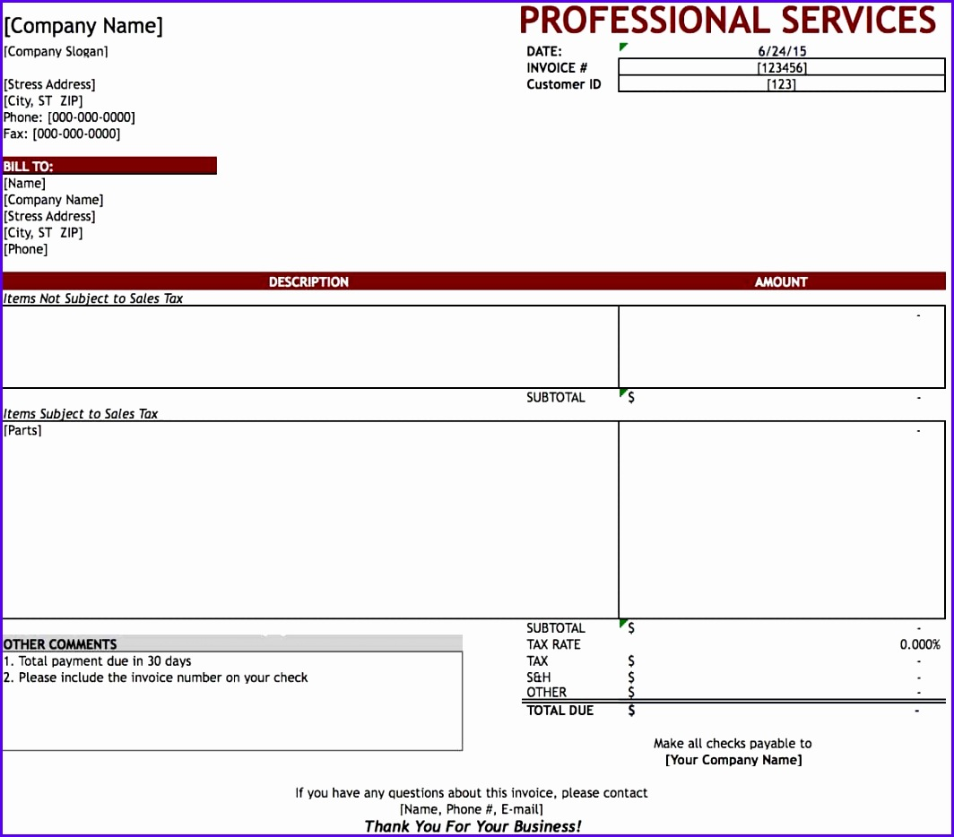 10 Consulting Invoice Template Excel