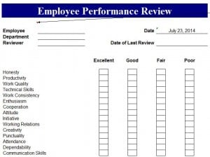 one on one performance review template - employee performance appraisal template excel templates