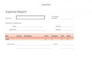 how to create expense report in excel