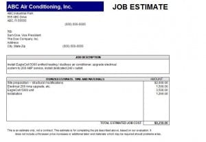 Templates For Estimates. 11 Job Estimate Templates and Work Quotes ...
