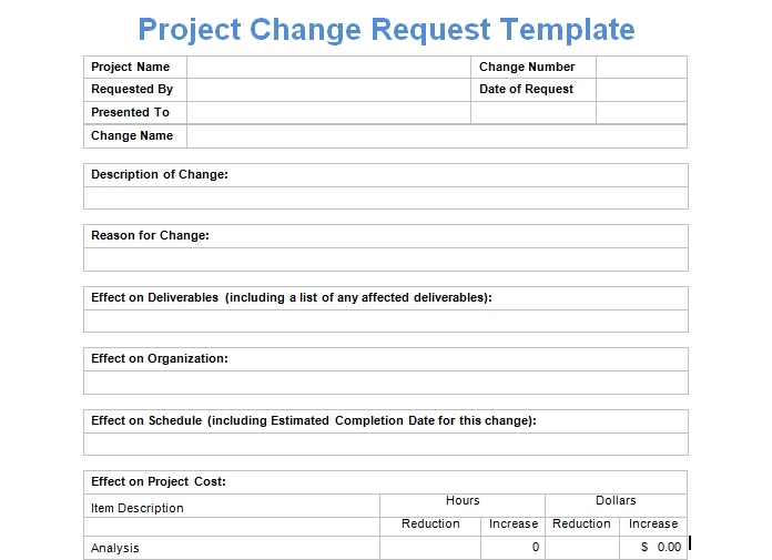 Request For Proposal Form Template | Request For Proposal Form Template