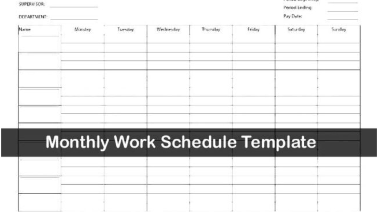 30/01/2018· the monthly employee schedule template is normally made for conserving an account of the listing of staff who work on the given month within the work place. Download Work Schedule Template Excel Exceltemple
