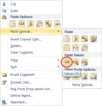 Paste Special In Excel To Paste Only Values