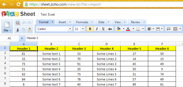 Zoho Excel Viewer
