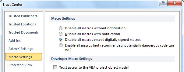 How to enable macros in excel macrosecurityinexcel 2007 ccuart Images