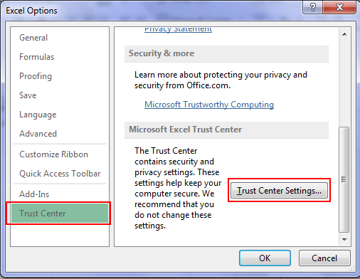 How to enable macros in excel trustcentre in excel 2013 ccuart Gallery