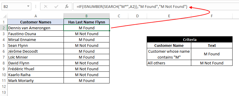 If Formula search with Wildcard characters or pattern matching