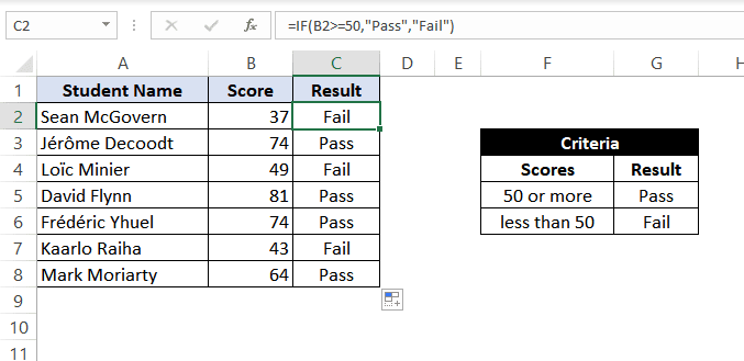 how to use if function in excel with greater than equal to operator