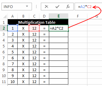 Excel relative and absolute references explained relative reference example part 1 altavistaventures Image collections