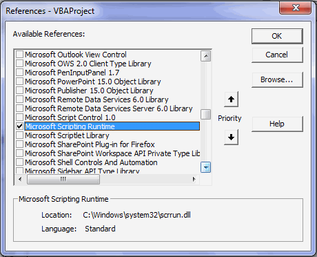 Filesystemobject in vba explained adding filesystemobject reference to vba 3 ibookread Read Online