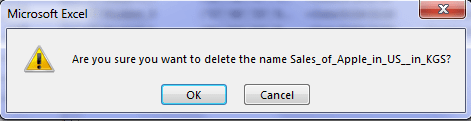 Confirmation Window for Deletion of Name Range