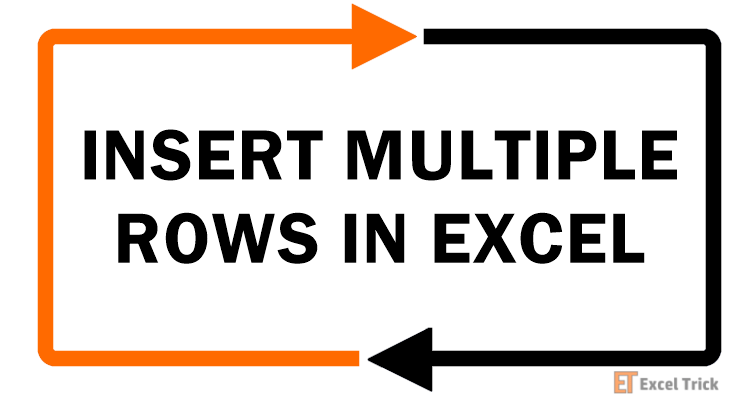 INSERT MULTIPLE-ROWS IN EXCEL