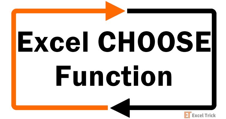 Excel CHOOSE Function