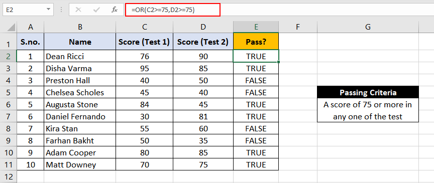 Excel-OR-Function-Example-1
