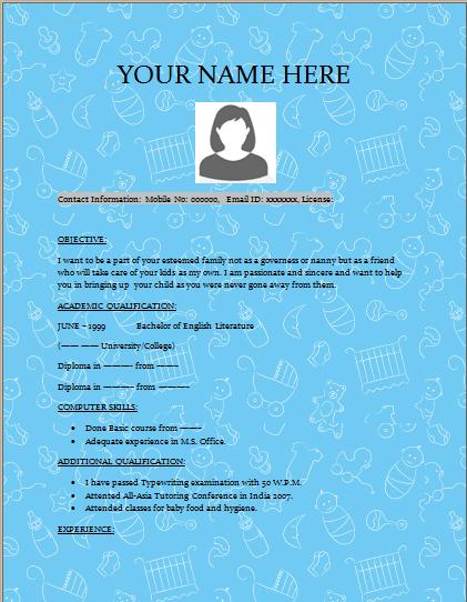 resume    cv templates  u2013 excel word templates