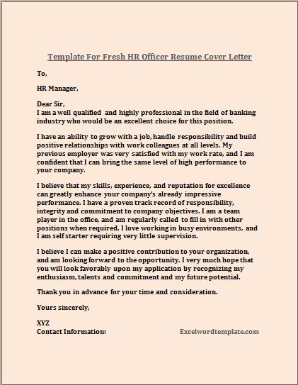 Hr Officer Cover Letter Examples HR Officer Cover Letter