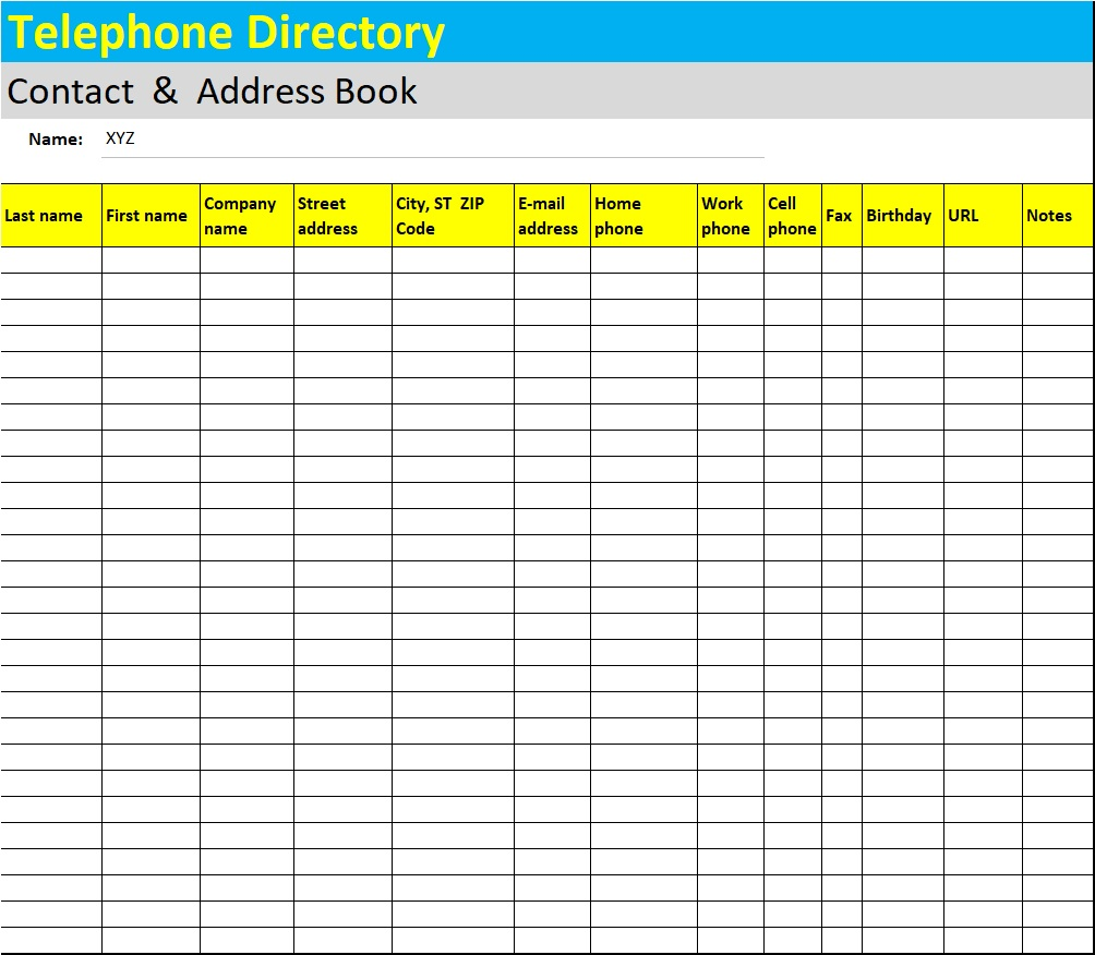 At the office, don't think that the computer is the only tool you need. Phone List Template Excel Word Templates