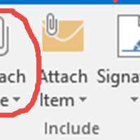 Outlook attachment