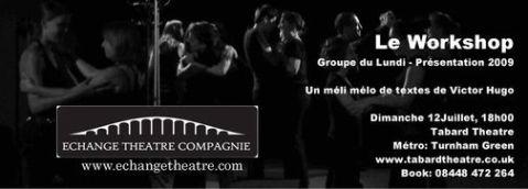 bannière spectacle théâtre un méli-mélo de texte de victor hugo le workshop