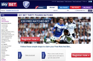 Skybet free £30 bet promotion