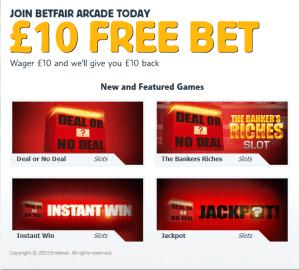 Betfair £10 Free No Deposit Bonus