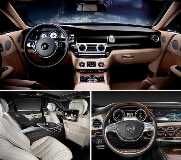 Intérieur de Bentley Maybach et Rolls Royce