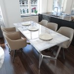 Exclusive Decor Napoli Marble Top Dining Table