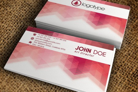 Corporate Pink Business Card     Premium Business Card Template     Corporate Pink Business Card   Premium Business Card Template 1