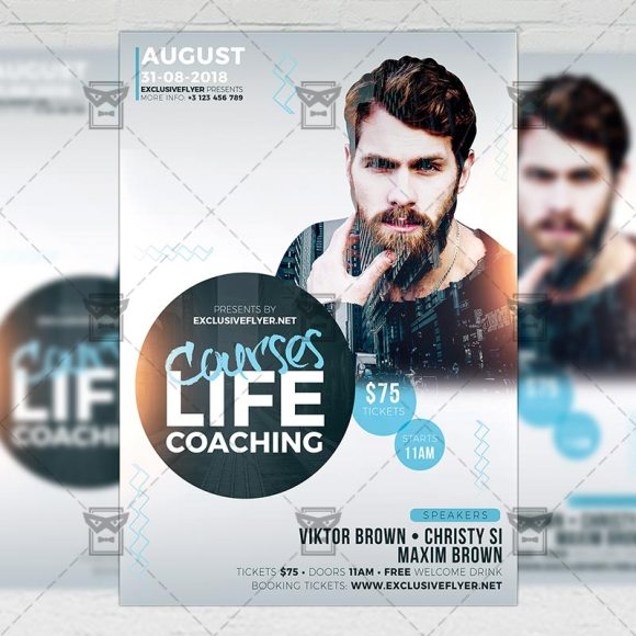 Life Coaching Courses - Business A5 Flyer Template ...