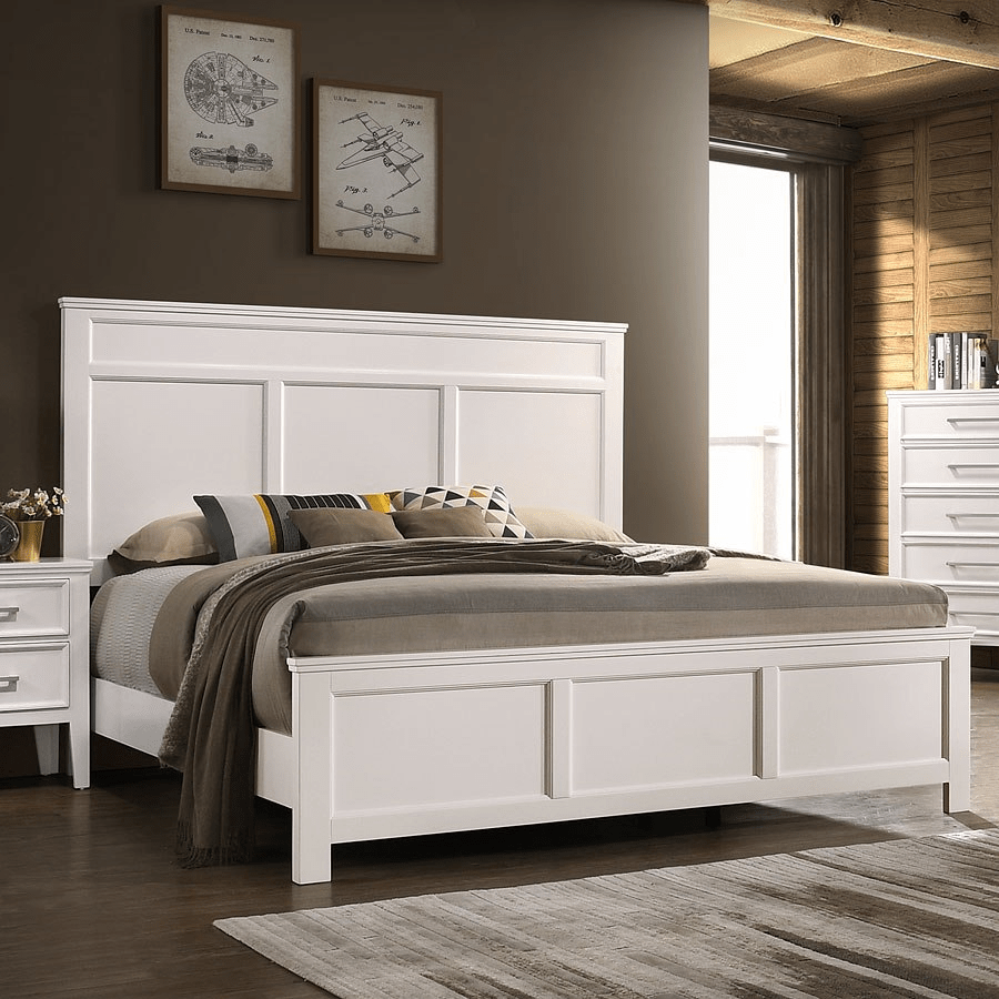 delia white queen bed 677