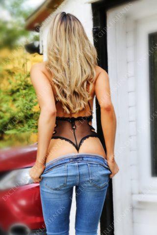 Amazing Esme removing Jeans