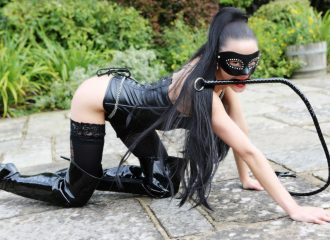 The Dominatrix on all fours with whip.Erotic Practices