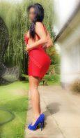 Annabella in that slinky red dress. Escorts GU21