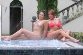 Two Surrey Escorts in a jacuzzi