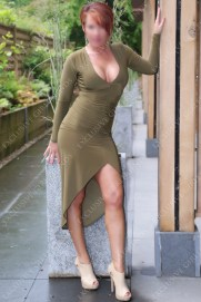 Lucy in Sexy Green Dress by Exclusive Girlfriends, Massage Parlour