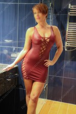Lucy in a skin tight dress @ massage parlour in Guildford