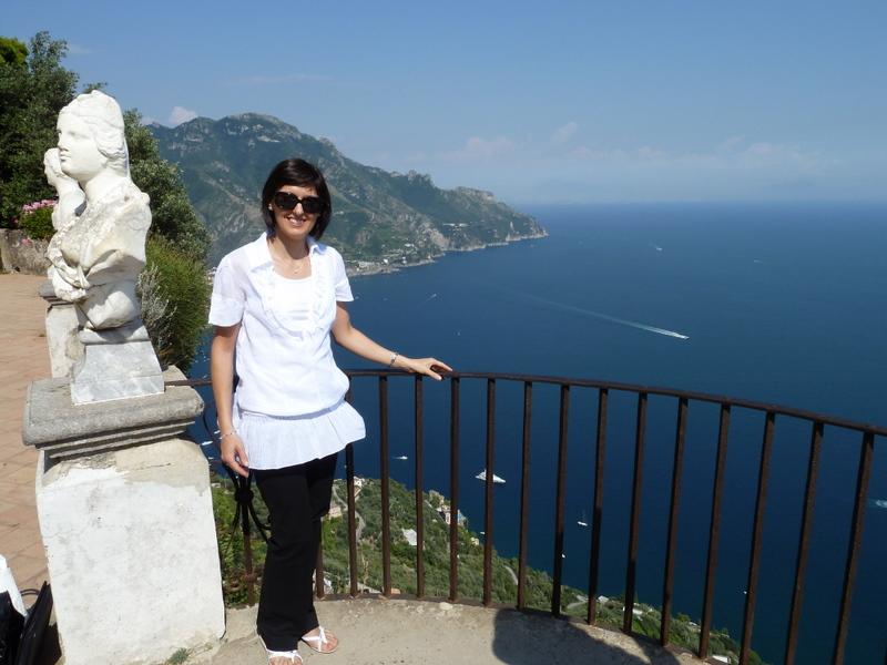 Sara at Villa Cimbrone