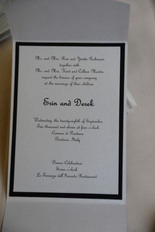 Their wedding invitation
