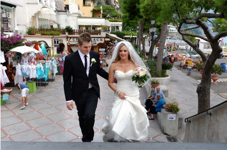 Walking near the beach of Positano