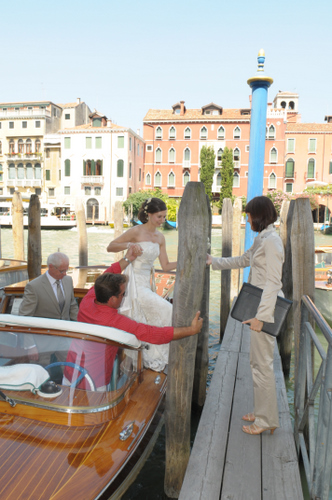 Sara in Venice to coordinate an event